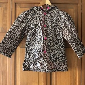 Other - Little girls cheetah print raincoat size 4/5
